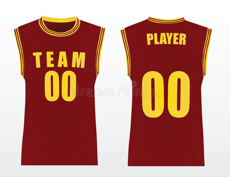 Uniforme do basquetebol ilustração do vetor