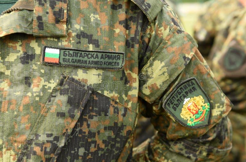 Uniforme do exército de Bulgária Tropas búlgaras imagem de stock