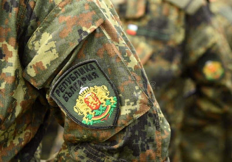 Uniforme do exército de Bulgária Tropas búlgaras foto de stock