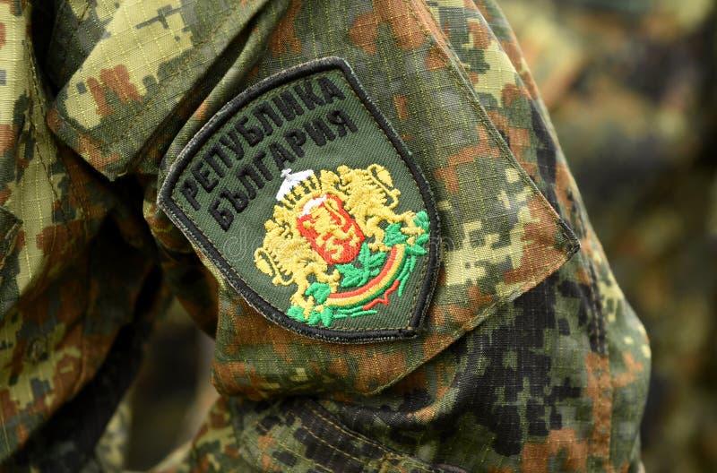Uniforme do exército de Bulgária Tropas búlgaras imagem de stock royalty free