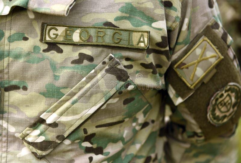 Uniforme do exército de Geórgia Tropas Georgian imagem de stock royalty free