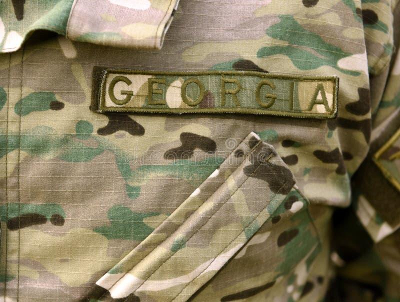 Uniforme do exército de Geórgia Tropas Georgian imagens de stock royalty free