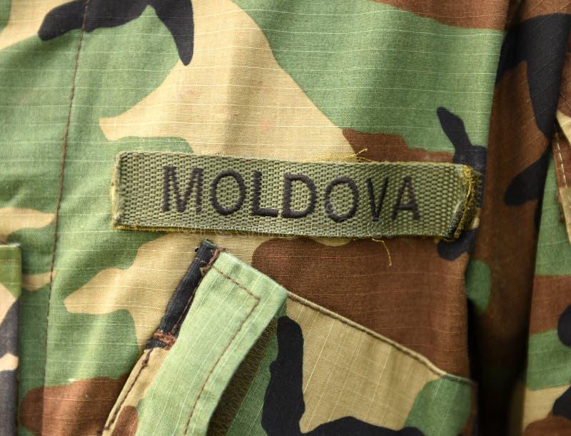 Uniforme do exército de Moldova Tropas moldavas imagem de stock