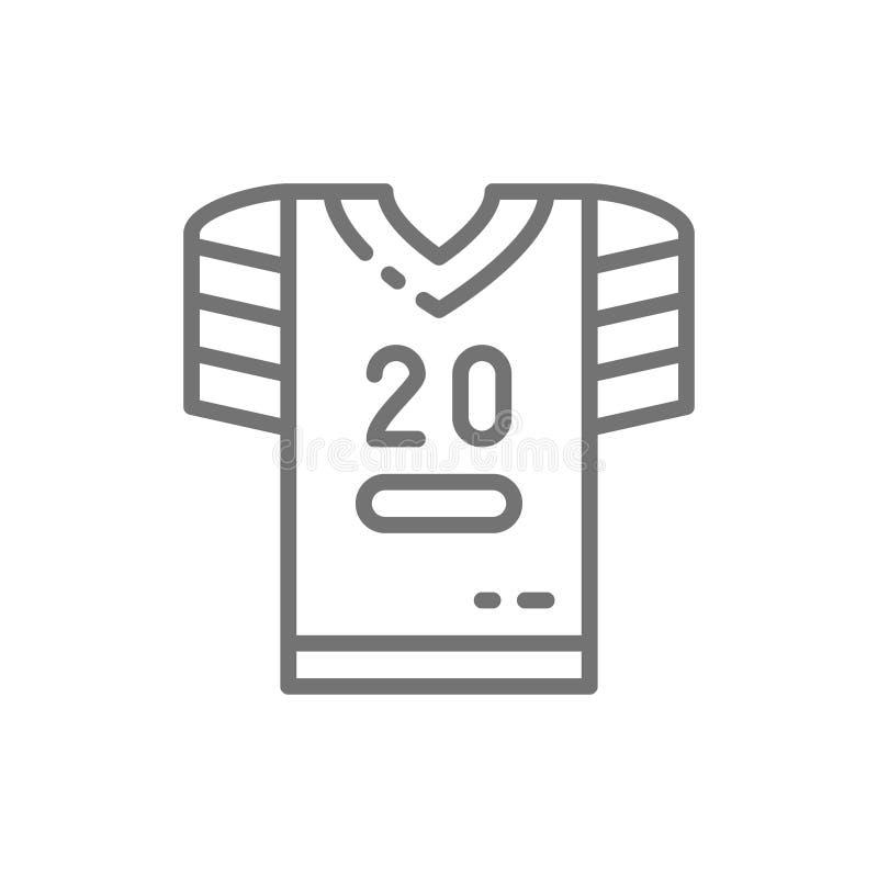 Uniforme do futebol americano, linha ícone do t-shirt ilustração do vetor