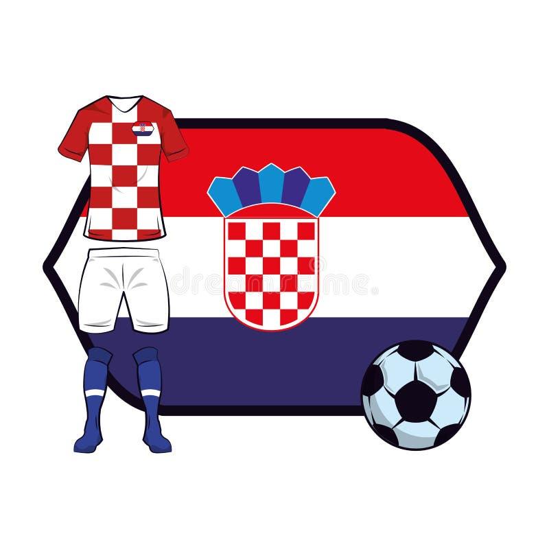 Uniforme do futebol da Croácia ilustração do vetor