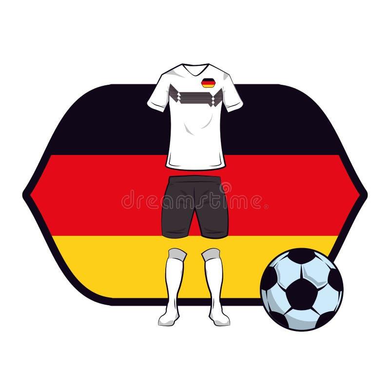 Uniforme do futebol de Alemanha ilustração do vetor