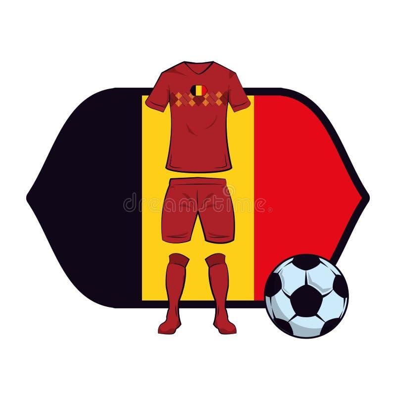 Uniforme do futebol de Bélgica ilustração stock