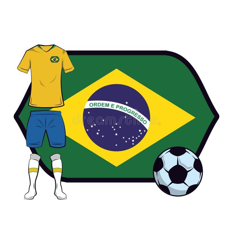 Uniforme do futebol de Brasil ilustração stock
