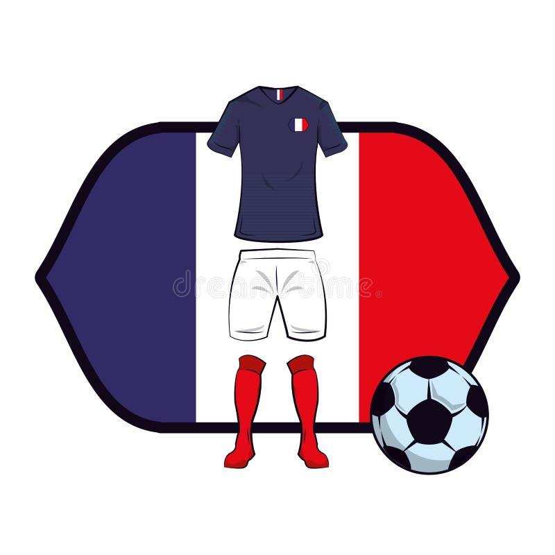 Uniforme do futebol de França ilustração do vetor