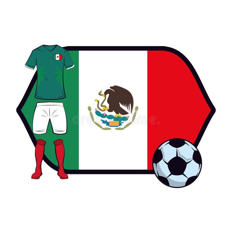 Uniforme do futebol de México ilustração stock