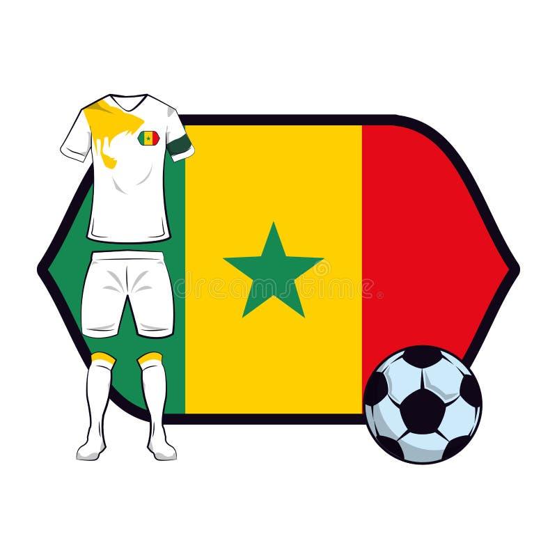 Uniforme do futebol de Nigéria ilustração stock