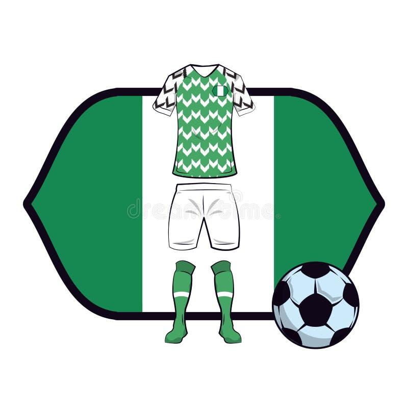 Uniforme do futebol de Nigéria ilustração royalty free