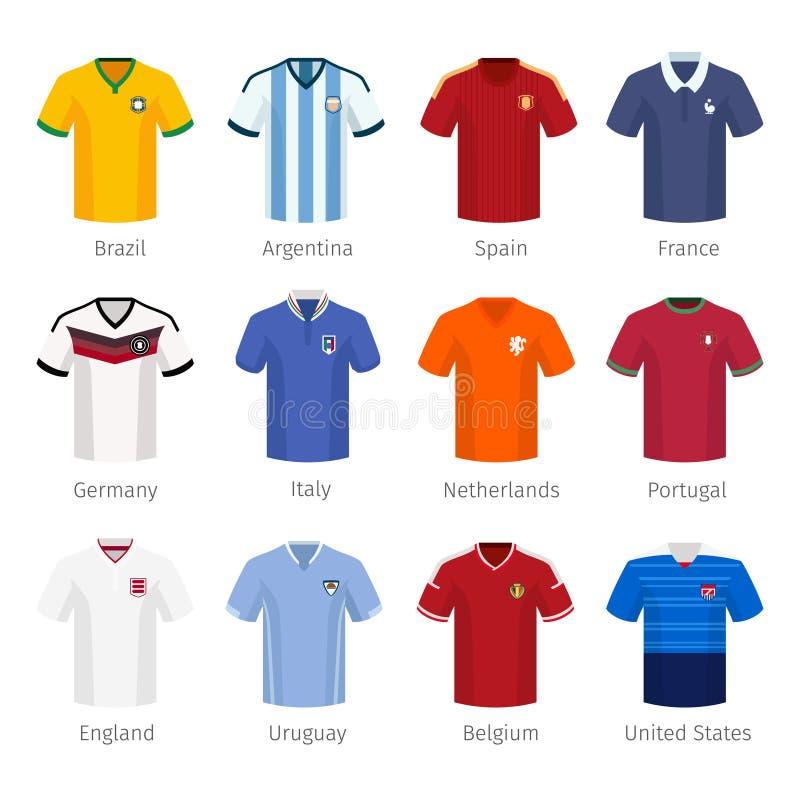 Uniforme do futebol ou futebol das equipas nacionais ilustração royalty free