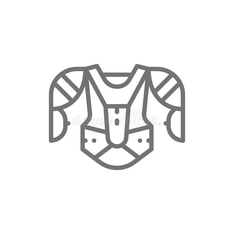 Uniforme do hóquei, esportes camiseta, linha ícone da camiseta ilustração royalty free