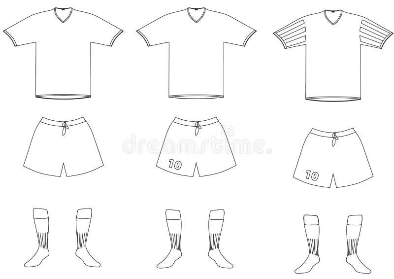 Uniforme do jogador de futebol do vetor ilustração do vetor