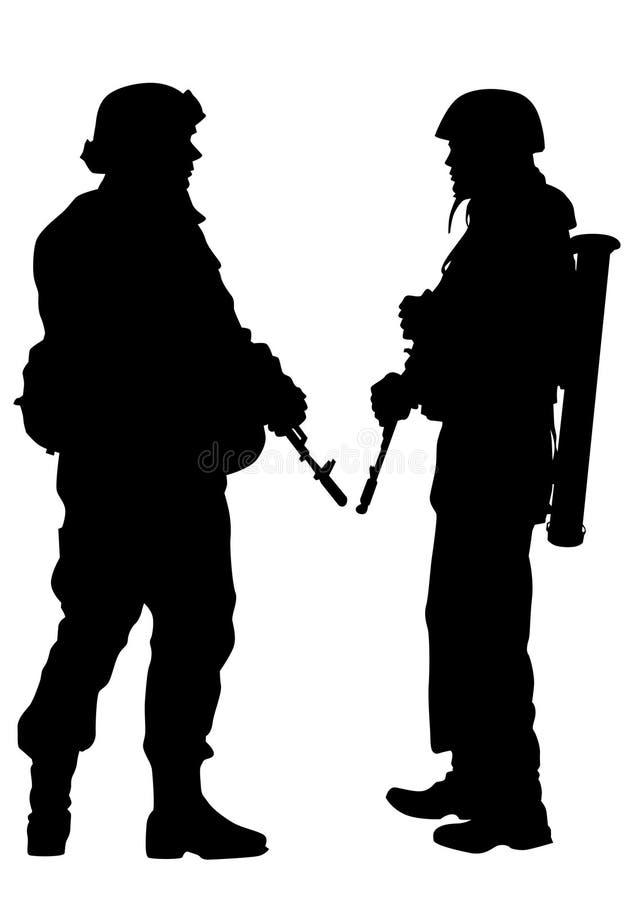 Uniforme dois dos soldados ilustração royalty free