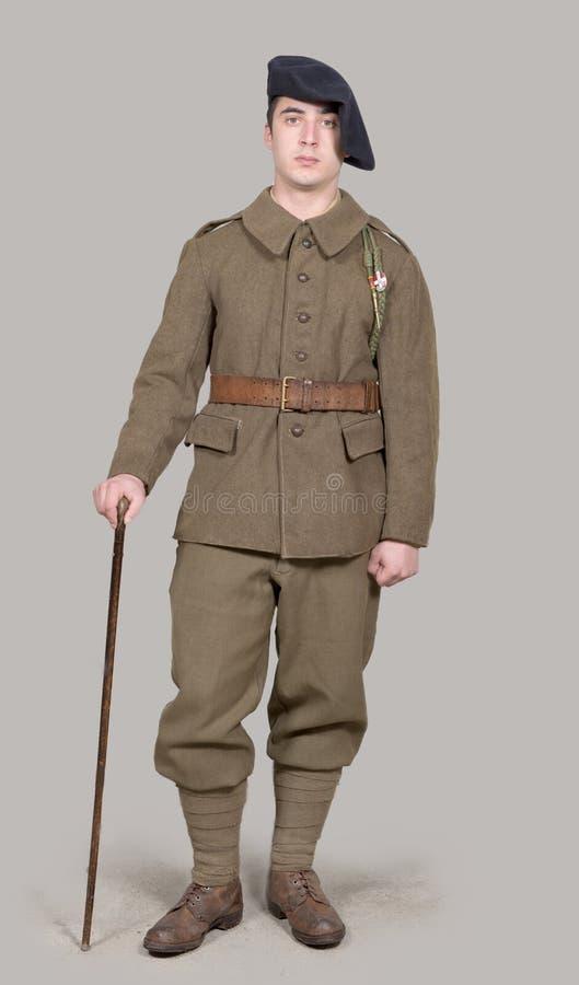 Uniforme français du ` s de soldat en 1940 photo stock