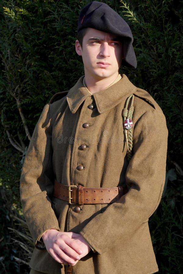 Uniforme français du ` s de soldat en 1940 image stock