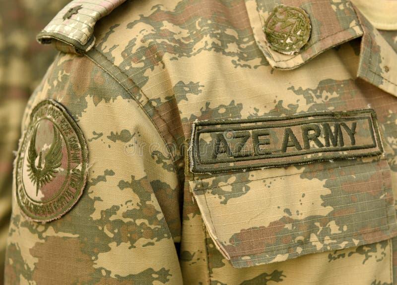 Uniforme militar de Azerbaijan Ejército de Azerbaijan imágenes de archivo libres de regalías