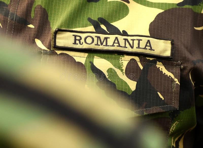 Uniforme militar de Romênia Tropas romenas fotografia de stock