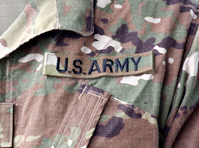 Uniforme militar dos E.U. Tropas dos E.U. Soldados dos E.U. Exército dos EUA fotografia de stock