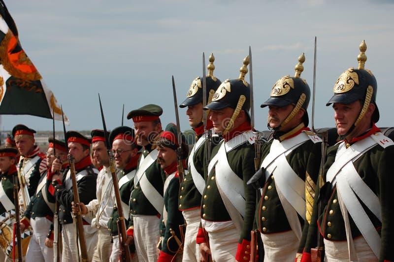 Uniforme russa. Tempo di guerra della Crimea fotografie stock libere da diritti