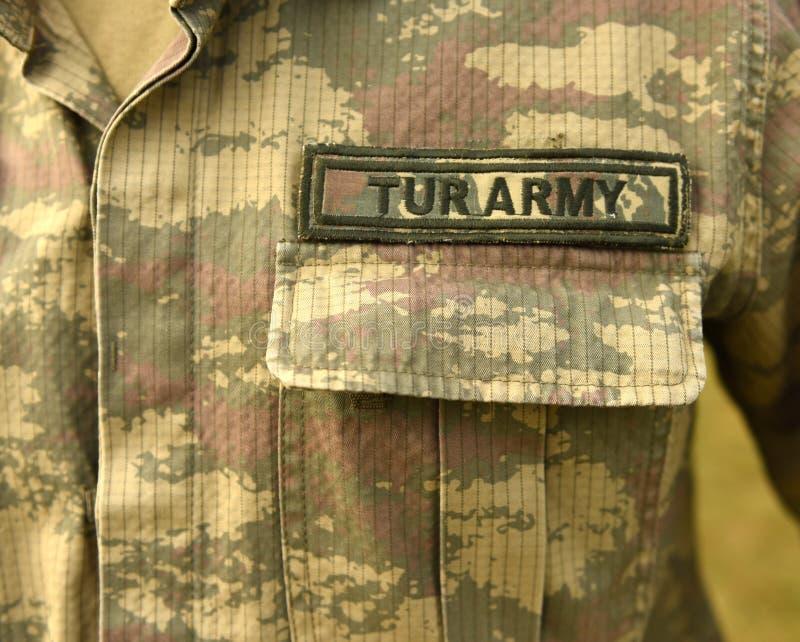 Uniforme turco do exército Tropas de Turquia imagens de stock