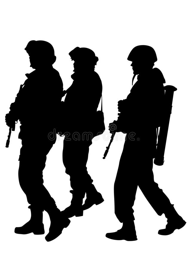 Uniforme um dos soldados ilustração stock