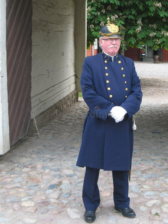 Uniforme velho da polícia. Linkoping. Suécia fotografia de stock royalty free
