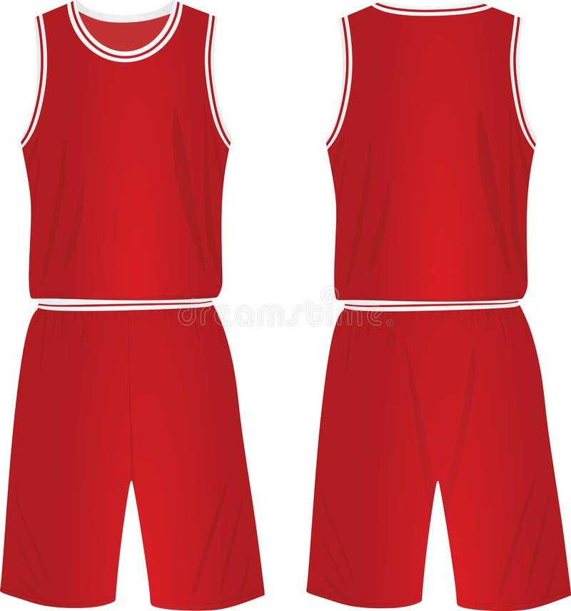 Uniforme vermelho do basquetebol ilustração royalty free