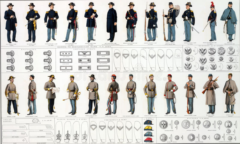 Uniformen en kentekens van Unie en Lidstaat stock foto's