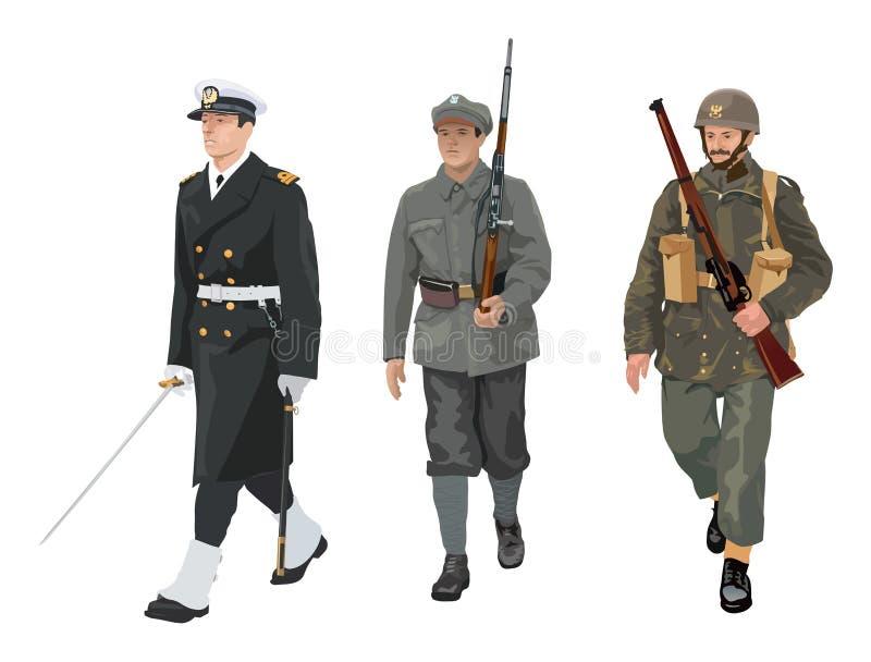 Uniformes d'armée polonaise illustration stock