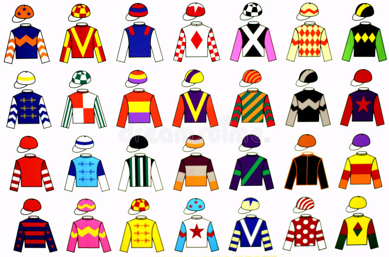 Uniformes de jockey illustration de vecteur