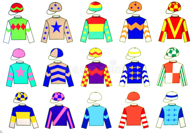 Uniformes de jockey illustration stock