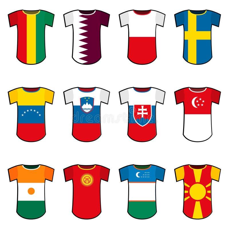 Uniformes nationaux du football de vecteur illustration de vecteur