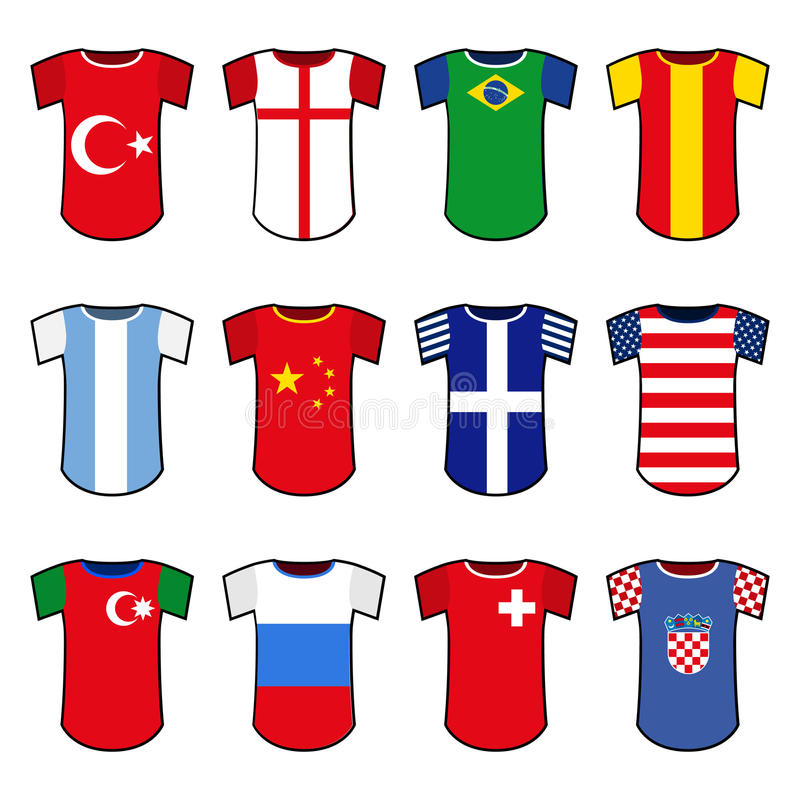 Uniformi nazionali di calcio di vettore royalty illustrazione gratis