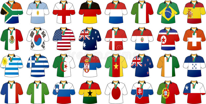 Download Uniforms of national flags stock vector. Image of korea - 13516379