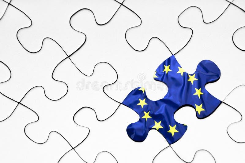 Unii Europejskiej flagi łamigłówki kawałek zdjęcia royalty free