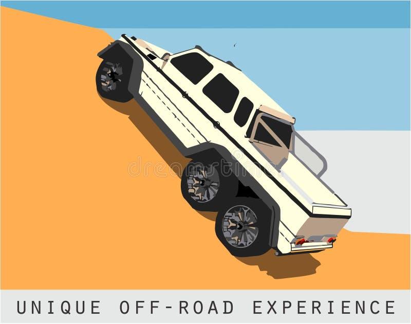 Unik av-väg erfarenhet stock illustrationer