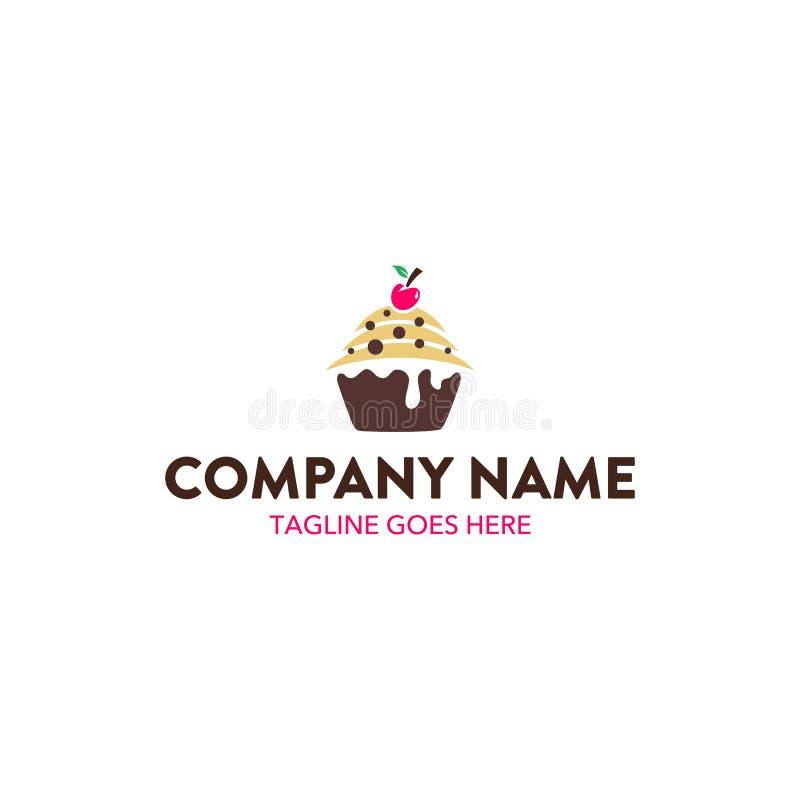 Unik bagerilogomall vektor redigerbart royaltyfri illustrationer