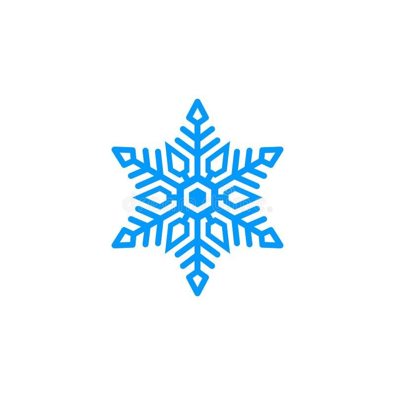 Unik blå snölogo royaltyfri illustrationer