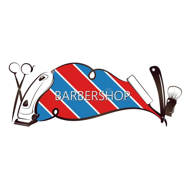 Unik design för frisersalong stock illustrationer