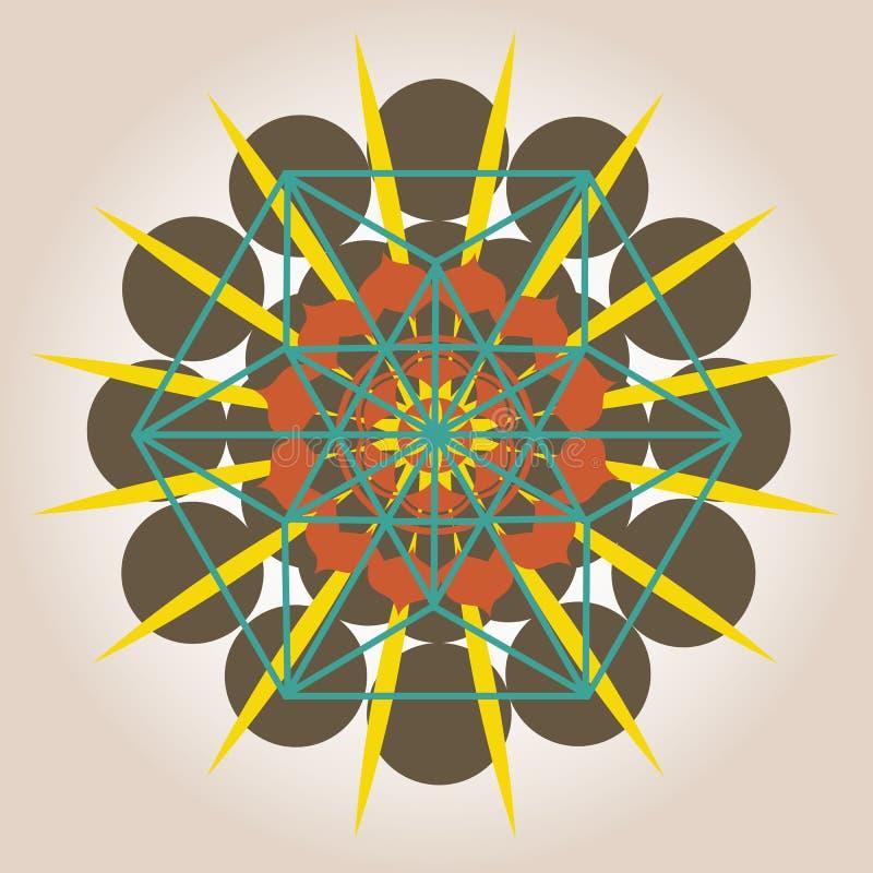 Geometrisk design med sacral avkänning royaltyfri illustrationer