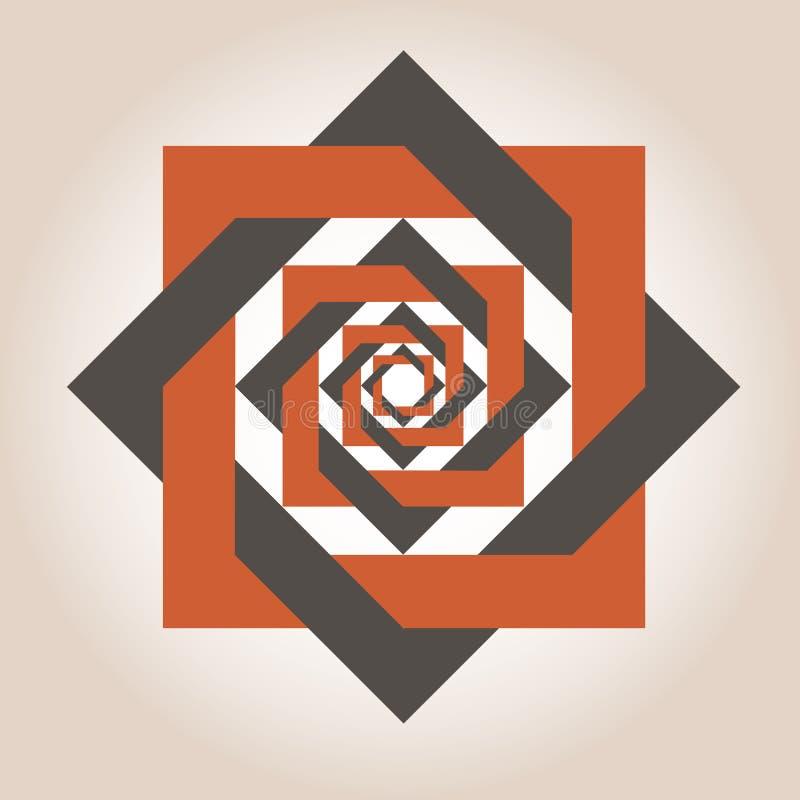 Kvadrera geometriska designer stock illustrationer