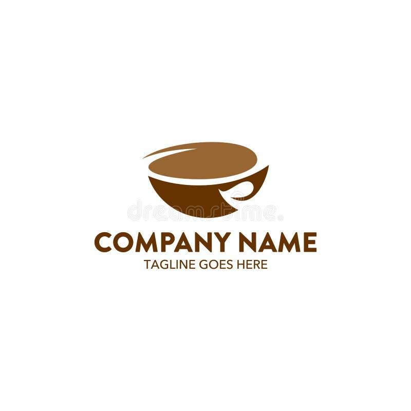 Unik mall för kaffekafélogo vektor redigerbart vektor illustrationer