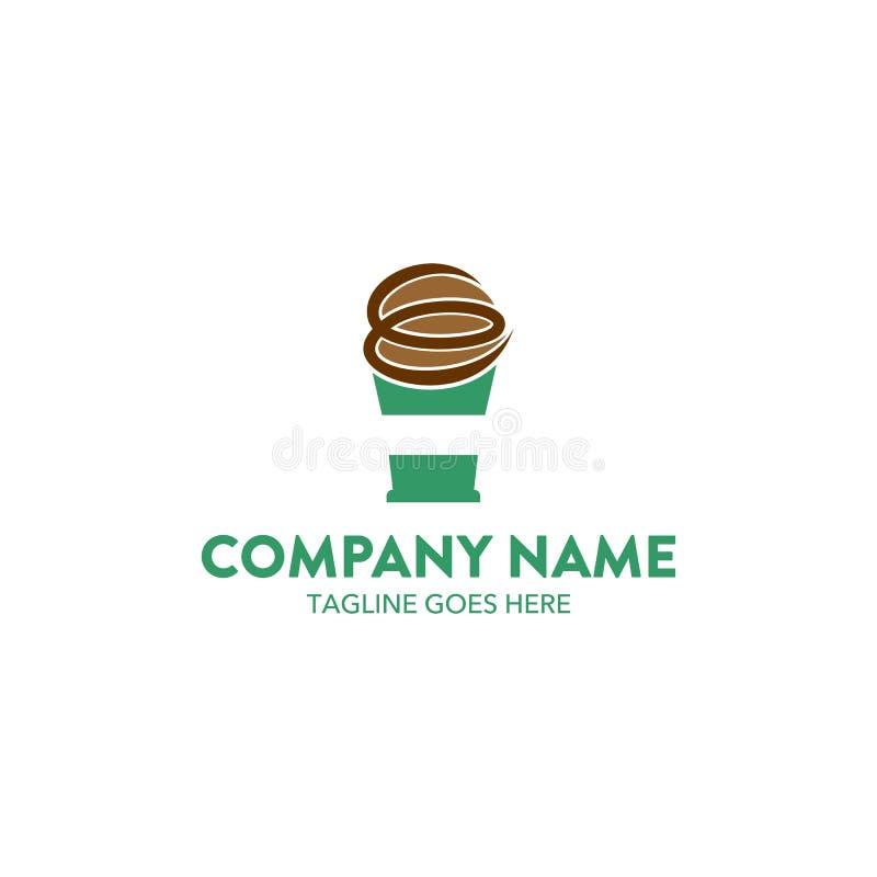 Unik mall för kaffekafélogo vektor redigerbart royaltyfri illustrationer