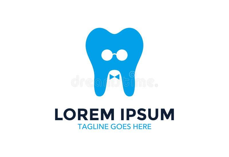 Unik och enastående tand- logo också vektor för coreldrawillustration redigerbart stock illustrationer