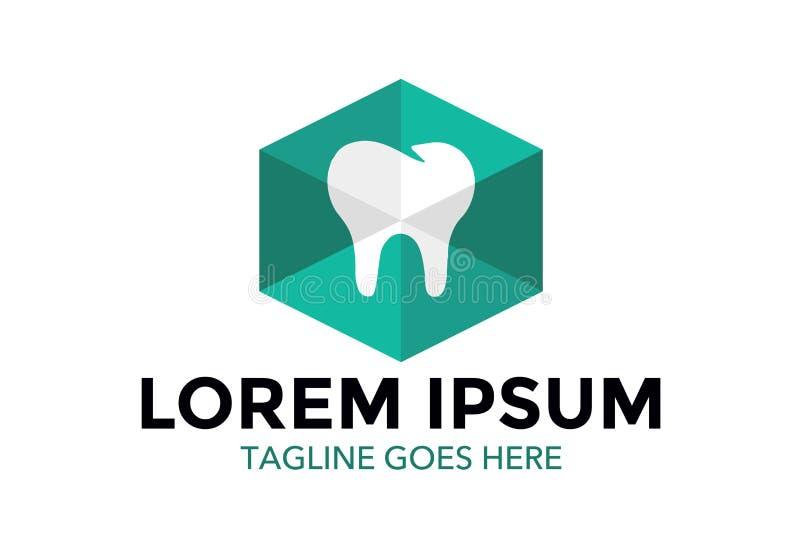 Unik och enastående tand- logo också vektor för coreldrawillustration redigerbart royaltyfri illustrationer