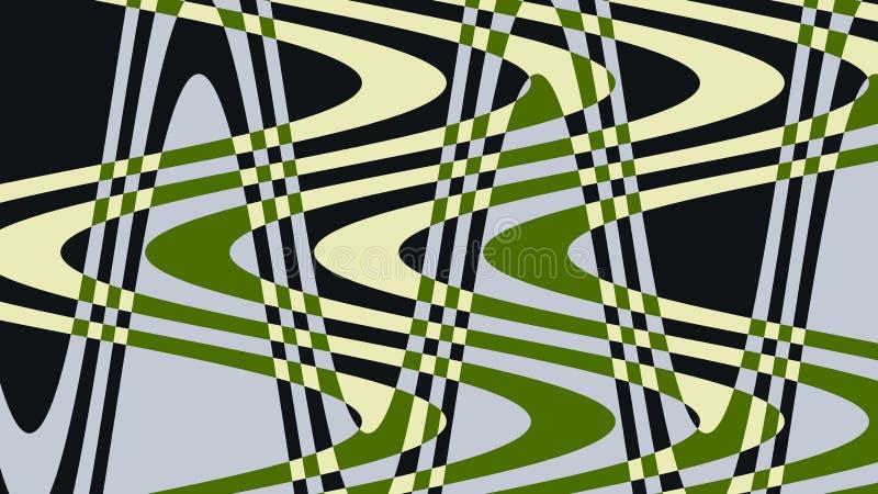 Unik ovanligt, utöver det vanliga, utstående och att förbluffa, färgar den utstående fotovågen av mörker, gräsplan, guling, grå f vektor illustrationer