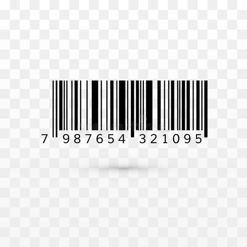 Unik realistisk stångkod Randig information om ID om produkt ocks? vektor f?r coreldrawillustration vektor illustrationer
